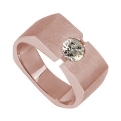 Rose Gold with Round Solitaire Diamond Ring