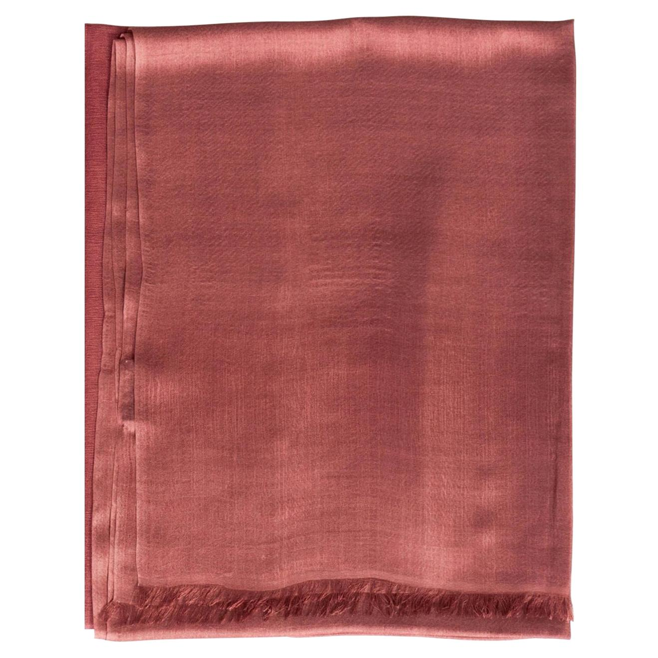 Rose Handloom Cashmere Silk Scarf
