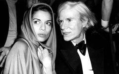 Bianca Jagger and Andy Warhol Talking at Studio 54 Fine Art Print