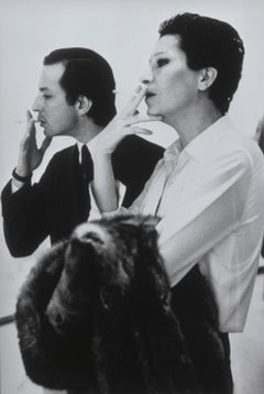 Elsa Peretti and Fred Hughes at the Marlborough Gallery, 1992