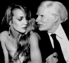 Jerry Hall and Andy Warhol, Interview Magazine Party at Studio 54, 1978