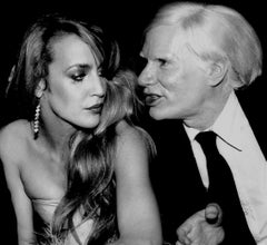 Jerry Hall and Andy Warhol, Interview magazine party at Studio 54, New York