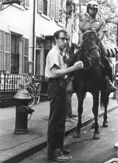 Woody Allen Directing a Film in New York City's Greenwich Village, 1985