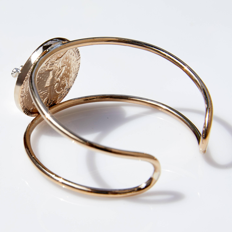 a843123f041 Rose Joan D'Arc Medal Statement Arm Cuff Bangle Medal Smoky Quartz J  Dauphin For Sale at 1stdibs