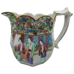 Rose Mandarin Chinese Porcelain Pitcher