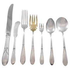 Rose Marie by Gorham Sterling Silver Flatware Set for 12 Service 92 pieces