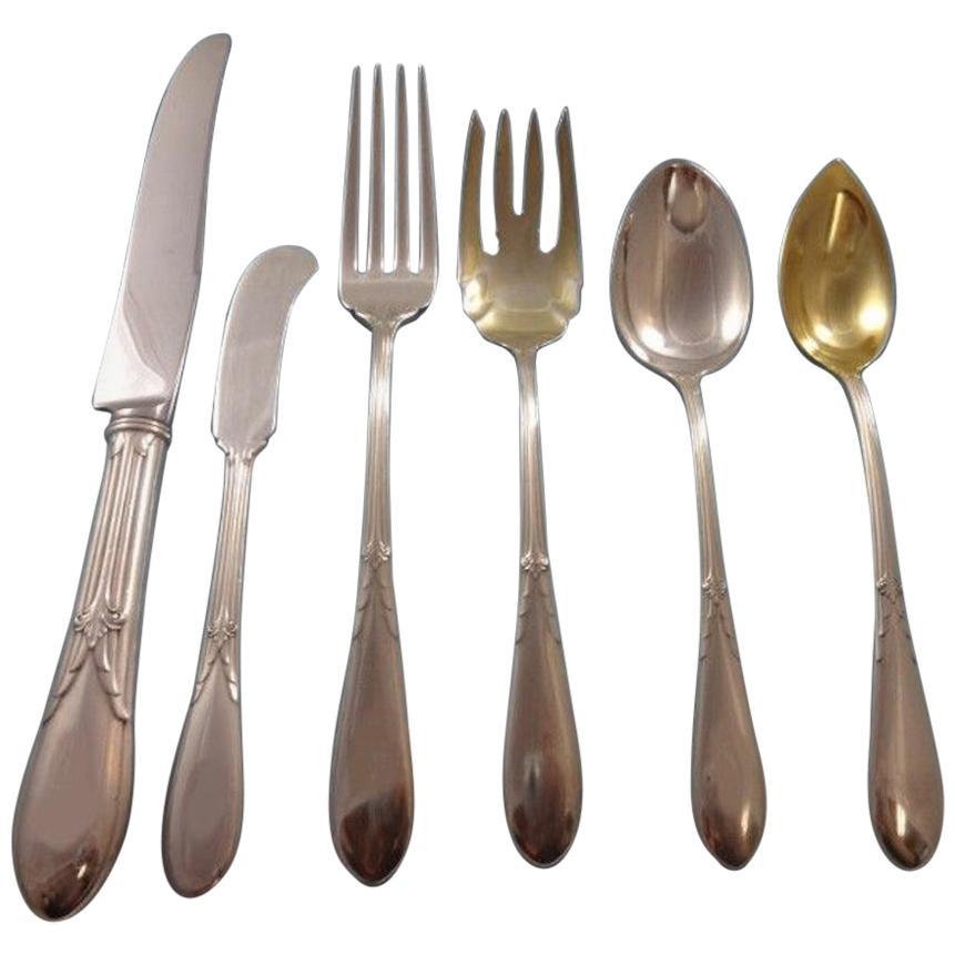 Sterling Silver Flatware Gorham Rose Marie Flat Handle Butter Spreader