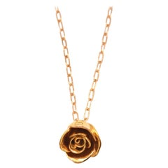 Rose Necklace Gold