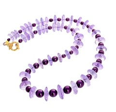 "Gemjunky Art Deco Collection 16"" Rose of France Amethyst Spectacular Necklace"