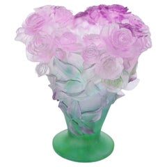 Rose Passion Vase by Daum, 1990s