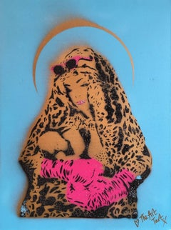 Leopard Print Mother & Child, Street Art
