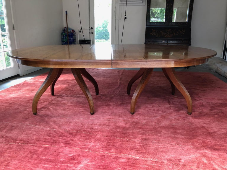 Rose Tarlow Mahogany Regency Dining Table Expands 10 122 inches For Sale 1