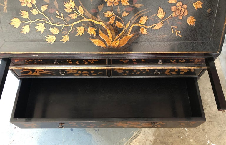 Rose Tarlow Queen Anne Style Chinoiserie Secretary For Sale 5