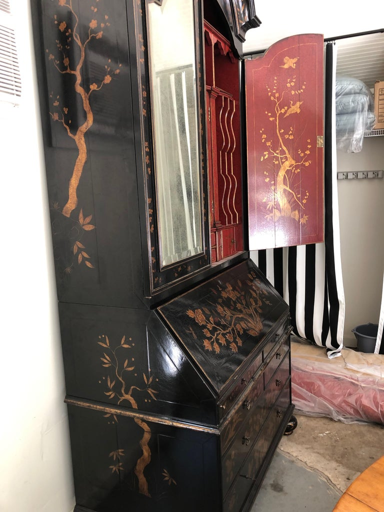 Rose Tarlow Queen Anne Style Chinoiserie Secretary For Sale 1