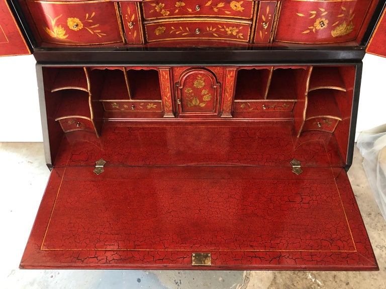 Rose Tarlow Queen Anne Style Chinoiserie Secretary For Sale 4