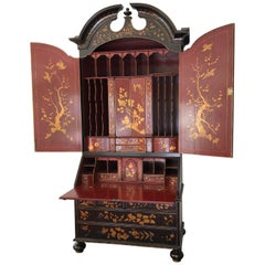 Rose Tarlow Queen Anne Style Chinoiserie Secretary