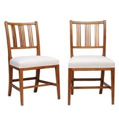 Rose Tarlow Regency Style Mahogany Dining Chair, Eight or a Set