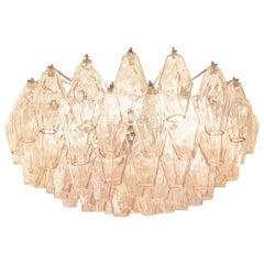 Rose' Venini Poliedri Murano Glass Chandelier