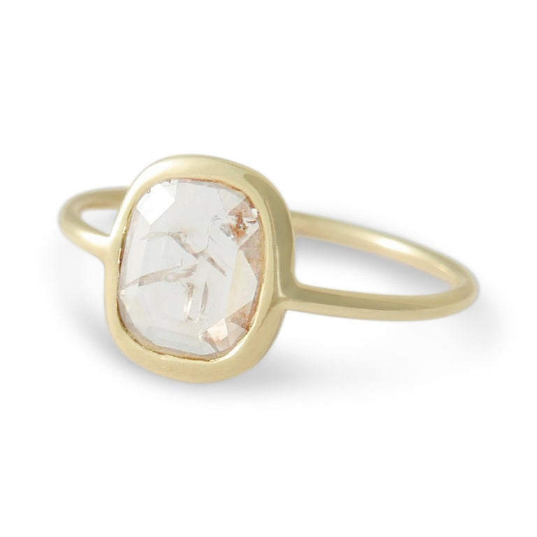 Rosecut Diamond Slice Ring By Allison Bryan For Sale At