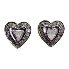 Rosecut Diamond Stud Earrings