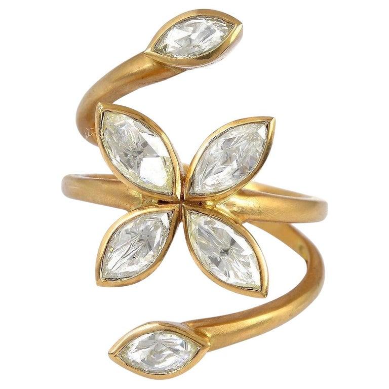 Rosecut Diamond Veil Open Ring For Sale