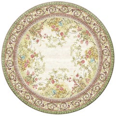 Rosemont Circle Hand Knotted Silk Rug 10ft