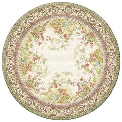 Rosemont Circle - Floral Traditional Hand Knotted Silk Rug
