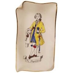 Rosenfeld Imports Italy Art Pottery Tray Plate The Physician