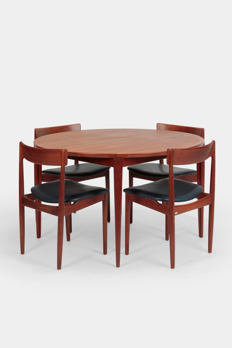 Rosengren Hansen Dining Table And 6 Chairs 1960s For Sale