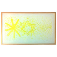 Rosenquist, More Points on a Bachelor's Tie Yellow Aquatint Photo-Etching, 1978