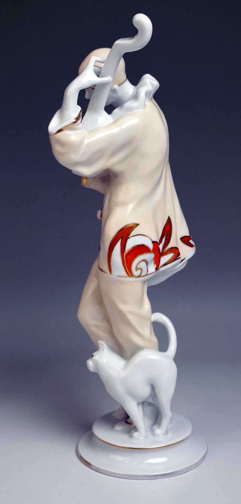 Porcelain Rosenthal Art Déco Figurine Pierrot 'Ash Wednesday' Max Valentin Germany, 1922 For Sale