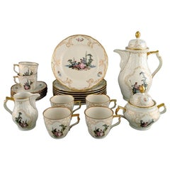 Rosenthal Classic Rose Coffee Service for Six People in Hand Painted Porcelain