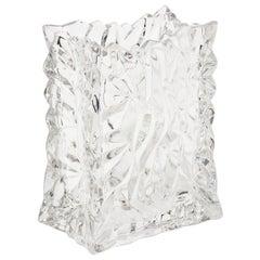 Rosenthal Crystal Paper Bag Glass Vase Vintage