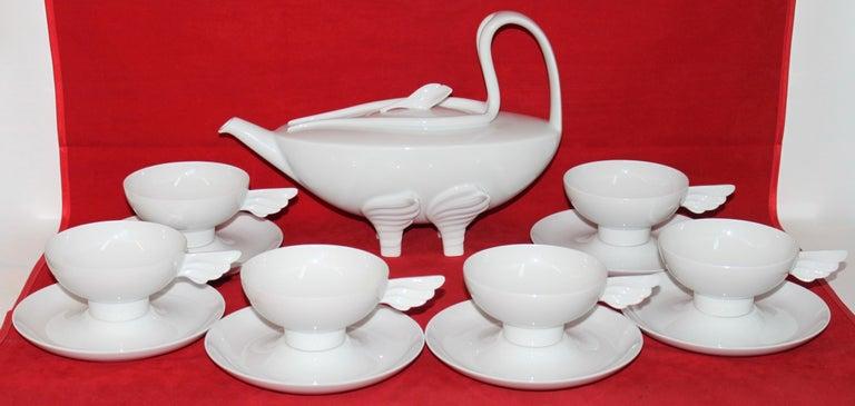20th Century Rosenthal Designer Art Porcelain Tea Set for Six,