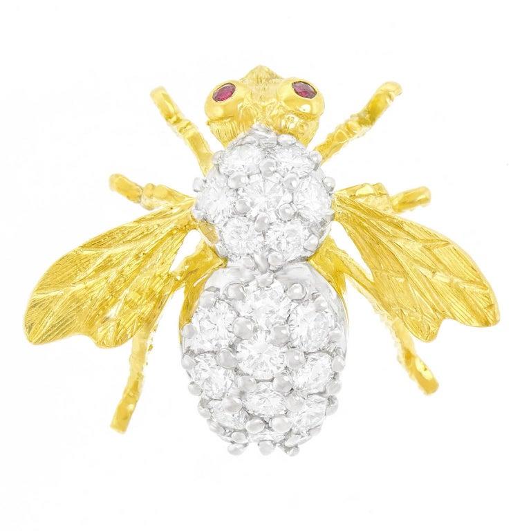 Brilliant Cut Rosenthal Diamond Bee For Sale