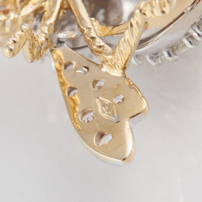Women's or Men's Rosenthal Diamond Bee Pin For Sale
