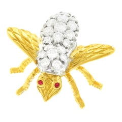 Rosenthal Diamond-Set Bee 18 Karat, circa 1970s, New York