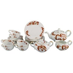 Rosenthal Elite Tea Service in Hand-Painted Porcelain for Six People, Japanism