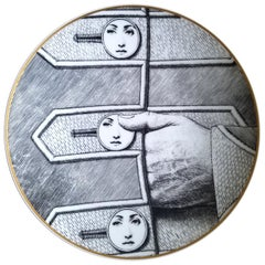 Rosenthal Fornasetti Porcelain Plate, Temi e Variazioni, Themes and Variations
