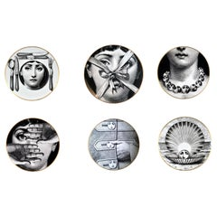 Rosenthal Fornasetti Set of Six Plates, Themes and Variations