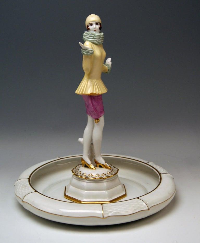 Art Deco Rosenthal Germany Lady Yvonne Dorothea Charol, circa 1930-1935 For Sale