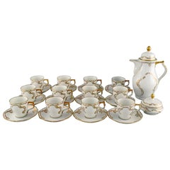 Rosenthal, Germany, Porcelain Coffee Service with Gold Decoration for 12 People