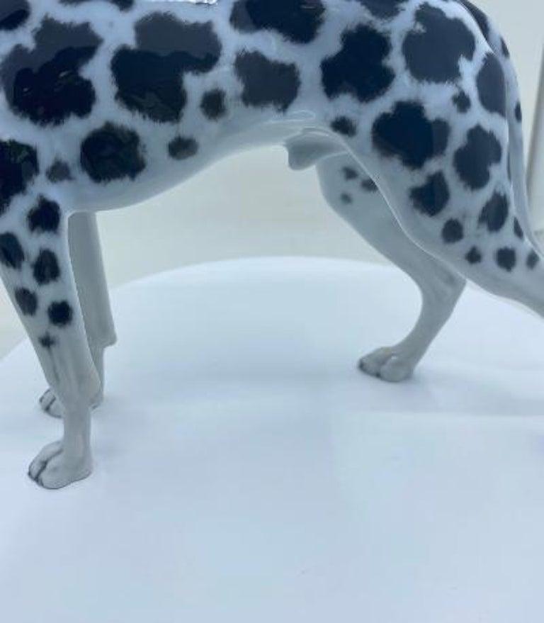 Rosenthal Germany Porcelain Harlequin Spotted Great Dane Dog Figurine For Sale 1