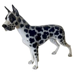Rosenthal Germany Porcelain Harlequin Spotted Great Dane Dog Figurine