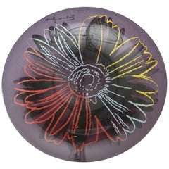 Rosenthal Glass Flower Plate / Serving Platte Designed after Andy Warhol