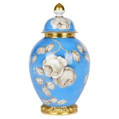 Rosenthal Large Art Deco Porcelain En Grisaille Roses Jar And Cover