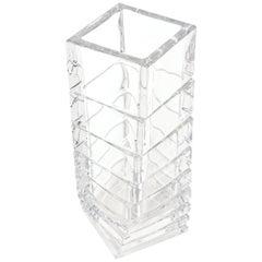 Rosenthal Mid-Century Modern Twisted Glass Sculptural Vase Vintage