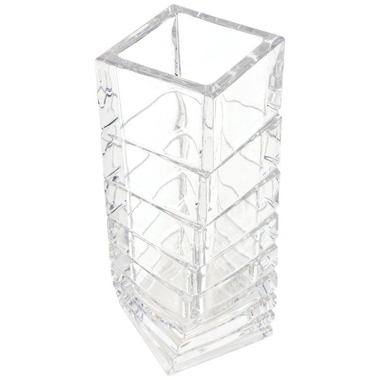 Rosenthal Mid-Century Modern Twisted Glass Sculptural Vase Vintage For Sale