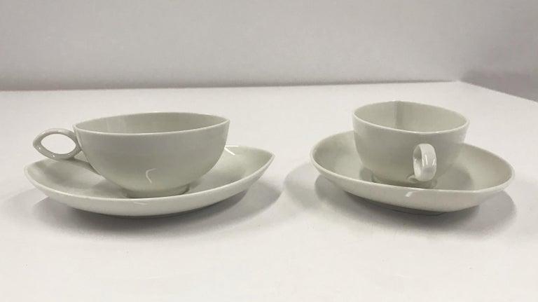 German Rosenthal Mid Century OVAL pattern Demi Tasse Coffee Set Rudolf Lundhard 1951 For Sale