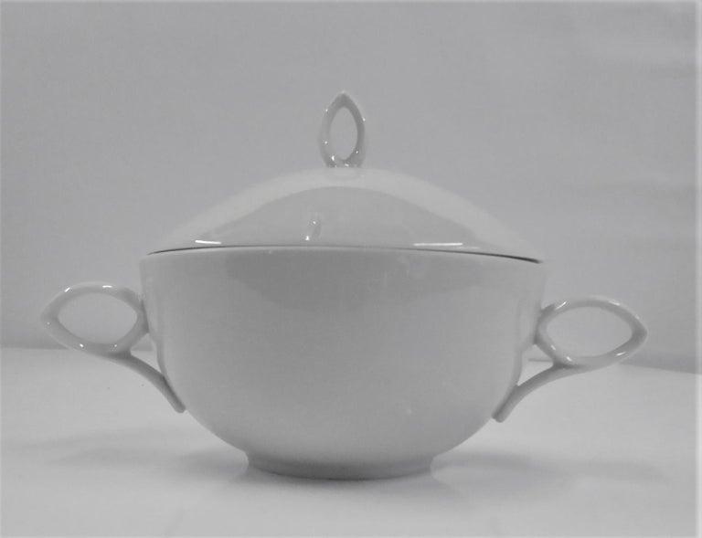 Ceramic Rosenthal Mid Century OVAL pattern Demi Tasse Coffee Set Rudolf Lundhard 1951 For Sale